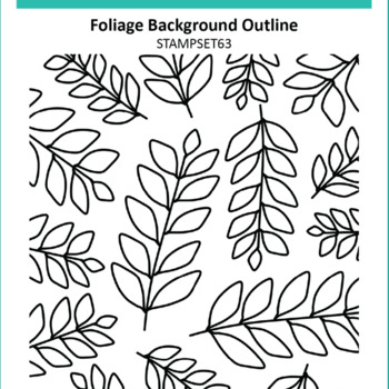Clear Stamps - Foliage Background Outline