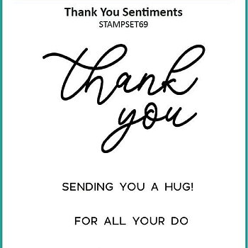 Clear Stamps - Thank You Sentiments