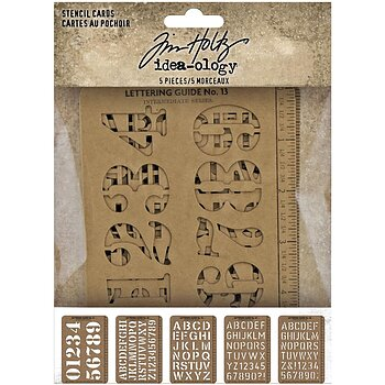 "Idea-Ology Stencil Cards 5.375""X3.75"" 5/Pkg"