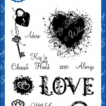 Key to Love - Clear Stamps