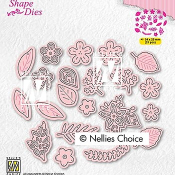 "Shape Dies ""Set of flowers & leaves"""