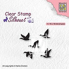 "Clear Stamps ""flying birds"""