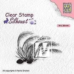 "Clear Stamps ""blooming grass-3"""