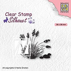 "Clear Stamps ""blooming grass-4"""