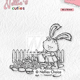 "Nellie's Cuties ""Lena gardening"" clear stamps"