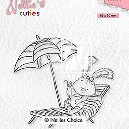 "Nellie's Cuties ""Lena on holidays"" clear stamps"
