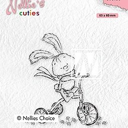 "Nellie's Cuties ""Javi with full speed"" clear stamps"