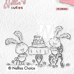 "Nellie's Cuties ""Javi birthday party"" clear stamps"