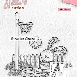"Nellie's Cuties ""Lars the sportsman"" clear stamps"