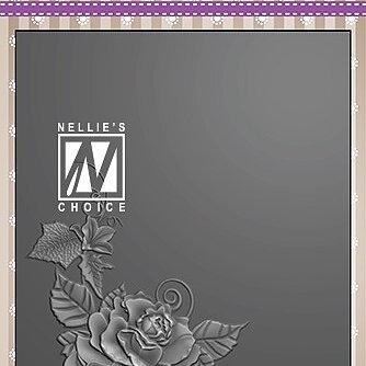 """3D Embossing folder """"Rose corner-2"""""""