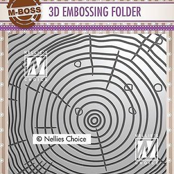 "3D Embossing folder wood ""growth rings"""