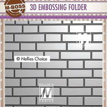 "3D Embossing folder ""brick wall"""
