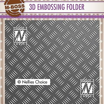 "3D Embossing folder ""stripe pattern-1"""