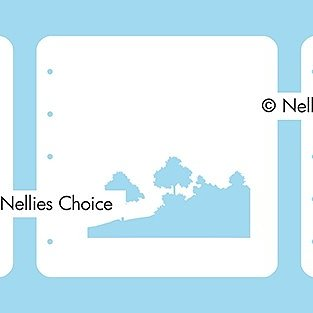 "Set of 3 Layered combi stencils ""Nature scene-2"""