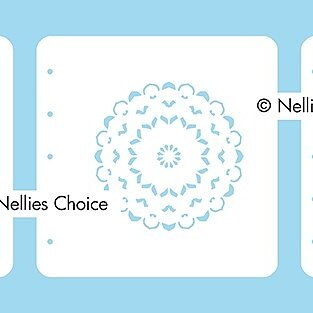 "Set of 3 Layered combi stencils ""Mandala-1"""