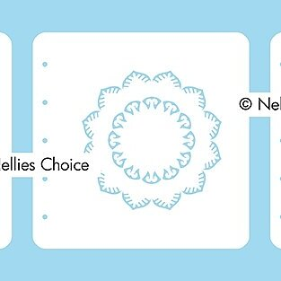 "Set of 3 Layered combi stencils ""Mandala-2"""