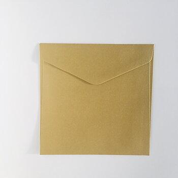 Kuvert 16x16 cm Guld metall