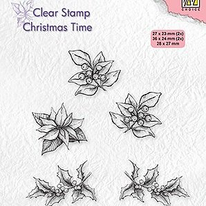 "Clear stamps Christmas time ""poinsettia"""