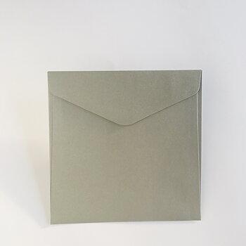 Kuvert 16x16 cm Silver metall