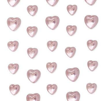 Rhinestones självhäftande Hjärtan Rosa