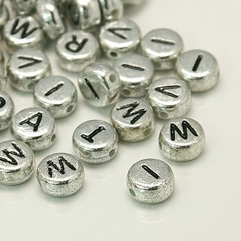 Bokstavspärla O silver 100-pack
