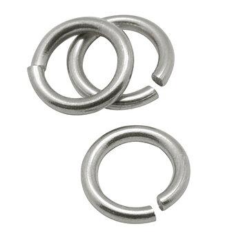 4mm metallringar öppen rostfritt stål 50st