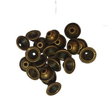 Pärlkåpa bali 10mm brons