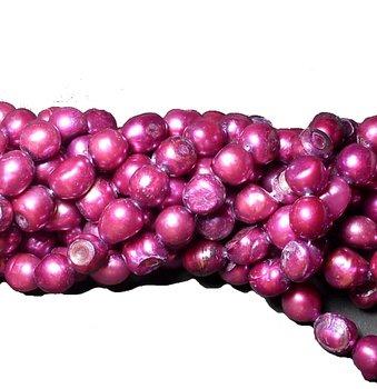 Barock 10-11mm mörkrosa