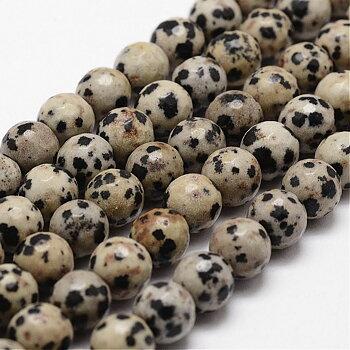 Dalmatiner jaspis facetterad 8mm halvädelsten