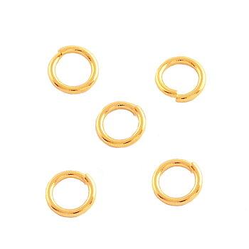 8mm metallring öppen rostfritt stål guld