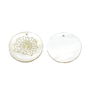 Snäckskalshänge med lotusblomma i guld