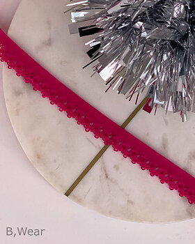 Decorative elastic 12 mm - Cerise