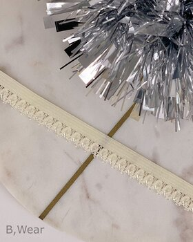 Decorative elastic 12 mm - Ivory