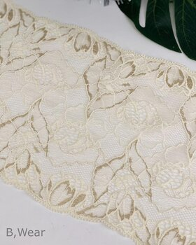 Lovely creme coloured stretch lace - 16 cm