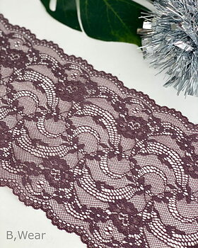 Brown stretch lace - 16 cm