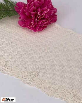 Stretch lace in Ivory