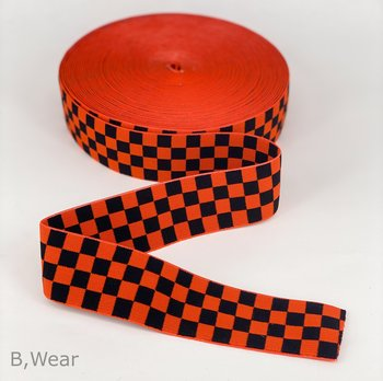 Checkered - Orange/black - 40 mm