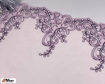 Champagne med silverrosa blommor - stum