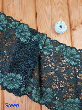 Stretch lace Green - 20 cm
