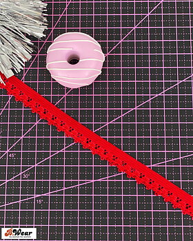 Dekorativ resår 12 mm - Tomatröd