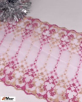 Gold and Pink non-stretch lace