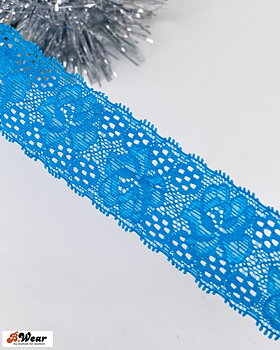Stretch lace in Turquoise