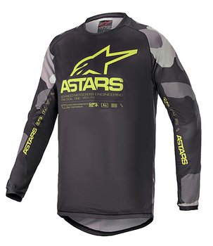 Alpinestars Junior Tröja Racer Tactical Camo/Gul Fluo