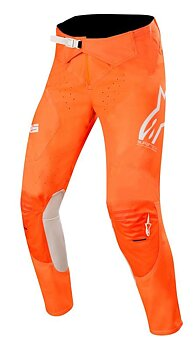 Alpinestars Junior Racer Tech Byxor Orange Flu/Vit/Blå