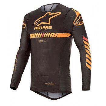 Alpinestars Supertech Tröja Svart/Orange/Röd Fluo