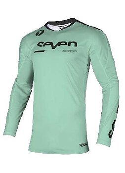 Seven Youth Rival Rampart Jersey, Black/Mint
