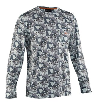 Grundéns Fish Head Long Sleeve Shirt Monument Camo