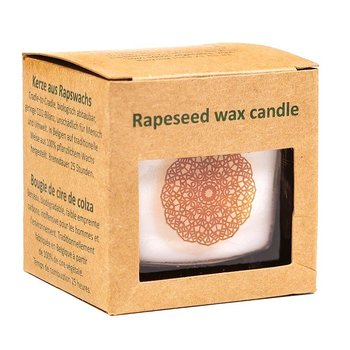Rapeseed wax scented candle sandelwood -- 6x6x6 cm