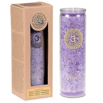 Aromatic Candle stearin 7th Chakra 100 hours -- 21x6.5 cm