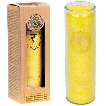 Aromatic Candle Stearin 3rd Chakra 100 hours -- 21x6.5 cm